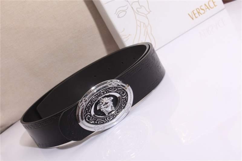Thắt lưng nam Versace siêu cấp dây vân logo mặt khóa hình thoi TLVS08