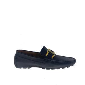 Giày lười Louis Vuitton siêu cấp họa tiết tag vàng GLLV33