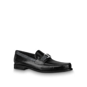 Giày lười Louis Vuitton like au da bóng đế cao tag hoa GLLV17