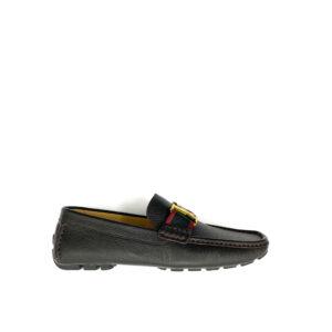 Giày lười Louis Vuitton like Au họa tiết họa tiết tag đỏ GLLV28