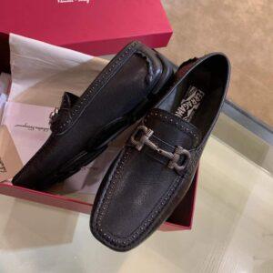 Giày Salvatore Ferragamo siêu cấp nam họa tiết viền đính hạt GNSF04