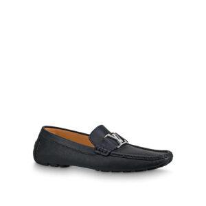 Giày lười Louis Vuitton like Au họa tiết khóa trắng GLLV39