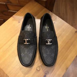 Giày nam Louis Vuitton Like Auth họa tiết hoa trắng GLLV64