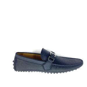 Giày lười Louis Vuitton Like Auth epi màu xanh GLLV52