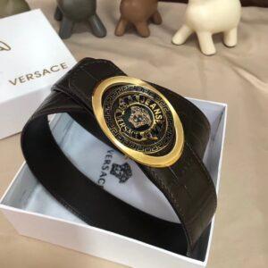 Thắt lưng nam Versace siêu cấp vân da cá sấu mặt khóa hình thoi TLVS15