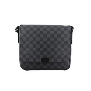 Túi đeo chéo nam Louis Vuitton like au hoạ tiết caro có nắp đậy TNLV27