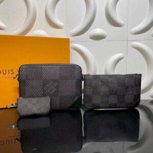 Túi đeo chéo Louis Vuitton like au hoạ tiết caro to ba túi TNLV20