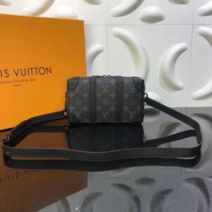 Túi đeo chéo Louis Vuitton like au hoạ tiết hoa hai viền đai đen TNLV24