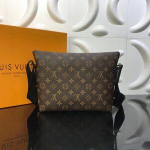 Túi đeo chéo Louis Vuitton like au hoạ tiết hoa nâu TNLV02