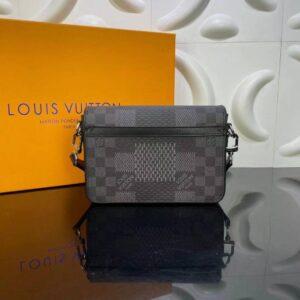 Túi đeo chéo nam Louis Vuitton like au họa tiết caro vuông to TNLV14