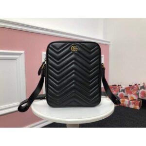 Túi xách đeo chéo Gucci siêu cấp nam màu đen họa tiết lượn sóng TNGC12