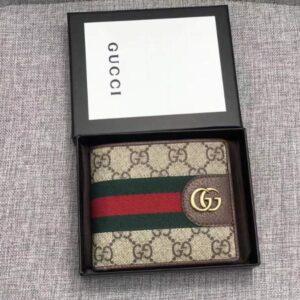 Ví nam Gucci siêu cấp bản ngắn hai mặt VNGC14