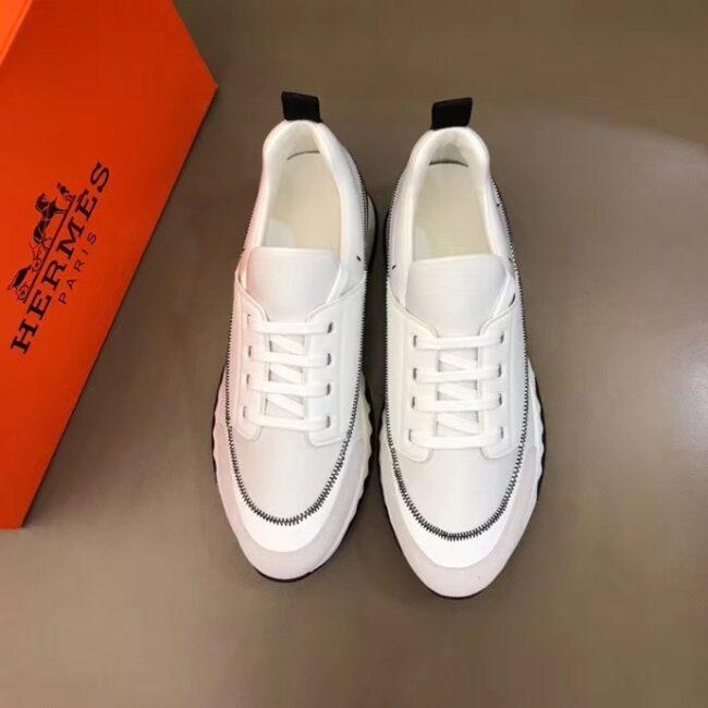 Giày Hermes siêu cấp nam phối màu cột dây GNHM01