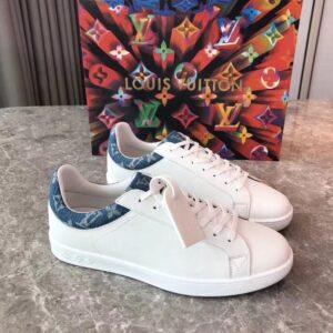 Giày louis Vuitton siêu cấp nam màu trắng họa tiết got xanh GNLV10