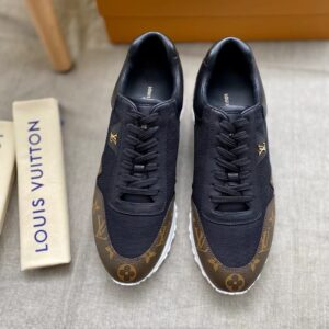 Giày nam Louis Vuitton like au hoa nâu đen GNLV11