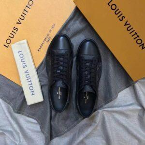 Giày nam Louis Vuitton like au hoạ tiết hoa đen GNLV06