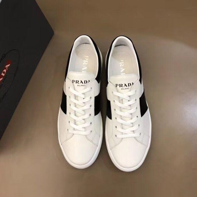 Giày Prada siêu cấp nam màu trắng tag thân GNP01
