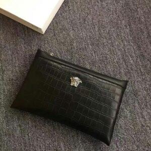 Ví Versace siêu cấp nam cầm tay họa tiết da cá sấu VNV06