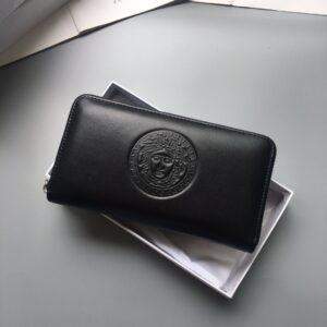 Ví Versace siêu cấp nam dáng dài dập logo tròn VNV05