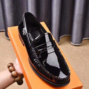 Giày lười Dolce & Gabbana siêu cấp họah tiết da bóng GLDG01