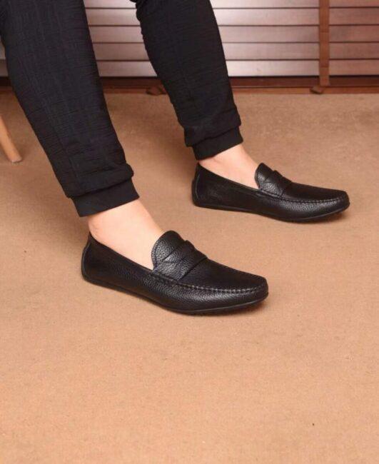 Giày lười Dolce & Gabbana siêu cấp họah tiết tag ngang GLDG02