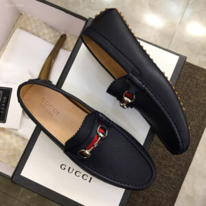 Giày lười Gucci siêu cấp họa tiết đế màu GLGC16