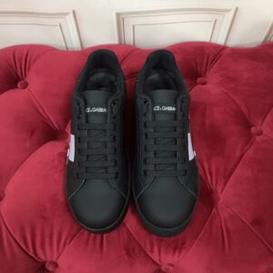 Giày nam Dolce Gabbana siêu cấp họa tiết chữ màu đen GND01