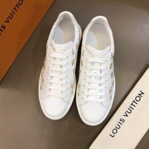 Giày nam Louis Vuitton sneaker họa tiết hoa vàng GNLV13