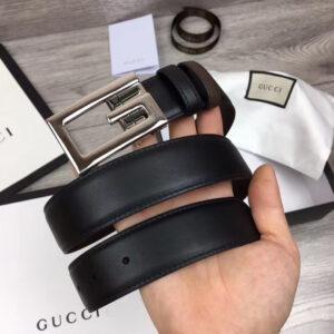 Thắt lưng Gucci họa tiết chứ G mặt trắng TLGC21