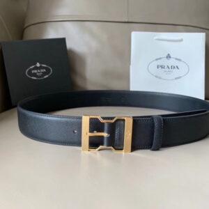 Thắt lưng Prada nam họa tiết khóa kim dây logo TLP14