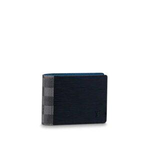 Ví nam Louis Vuitton siêu cấp bỏ túi họa tiết phối caro VNLV38