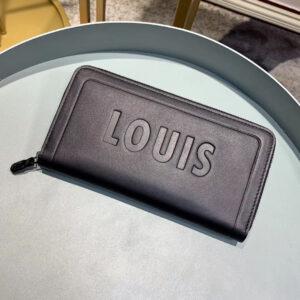Ví nam Louis Vuitton cầm tay họa tiết in chữ chìm VNLV20