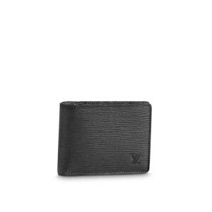 Ví nam Louis Vuitton like au họa tiết epi màu đen VNLV01