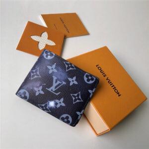 Ví nam Louis Vuitton like au cầm tay họa tiết xám khói VNLV16