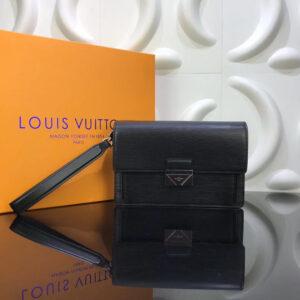 Ví nam Louis Vuitton like auth khóa số họa tiết da epi VNLV10