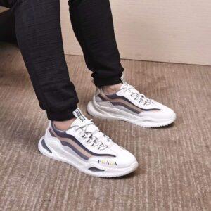 Giày nam Prada siêu cấp họa tiết viền kẻ ba màu GNP01