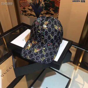 Mũ Gucci nam siêu cấp họa tiết hổ màu xanh đen MNGC04