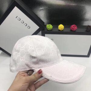 Mũ Gucci nam siêu cấp họa tiết logo màu trắng MNGC02
