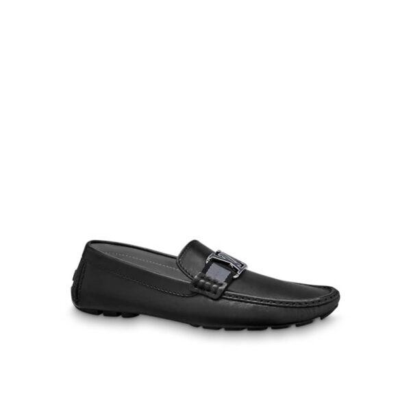 Giày lười Louis Vuitton Like Auth da trơn tag xanh GLLV68