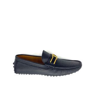 Giày lười Louis Vuitton siêu cấp họa tiết mặt vàng GLLV36