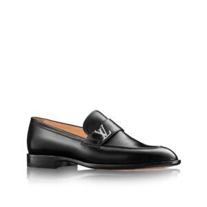 Giày Lười Louis Vuitton like au đế cao hoạ tiết khoá logo lệch GLLV42