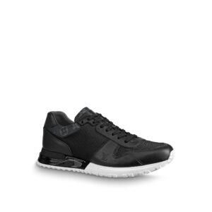 Giày nam Louis Vuitton like au họa tiết viền hoa màu đen GNLV03