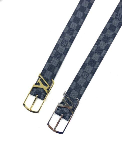 Thắt lưng Louis Vuitton nam siêu cấp hoạ tiết logo lồng khoá kim TLLV44