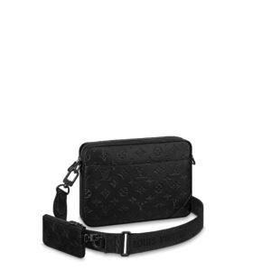 Túi đeo chéo Louis Vuitton like au hoạ tiết hoa đen dập chìm TNLV13