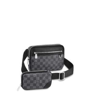 Túi đeo chéo nam Louis Vuitton like au hoạ tiết caro hai túi TNLV30