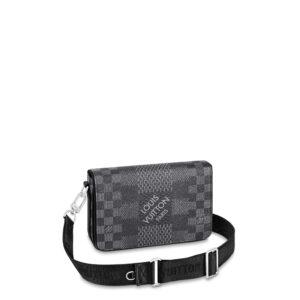 Túi đeo chéo nam Louis Vuitton họa tiết caro vuông to TNLV14