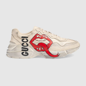 Giày nam Gucci like au Rhyton họa tiết môi bẩn GNGC10